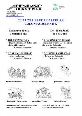 2012ko Udalekuak  // Colonias de verano 2012